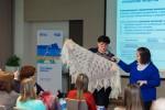 И.А. Евстратьева  рассказывает о своем проекте по пуховязанию