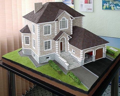 Дом своими руками макет