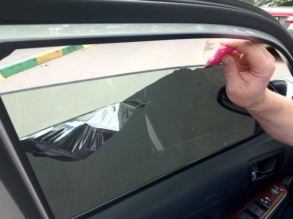 Как снять тонировку стекол 108